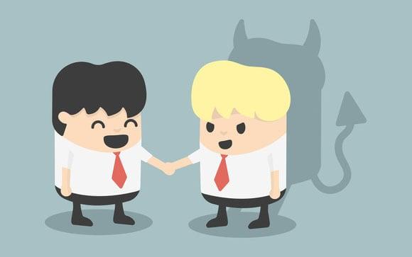 Geschäftsmann Handshake Betrüger