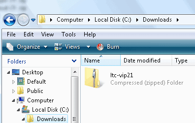 Local Trade Copier setup file downloaded to computer