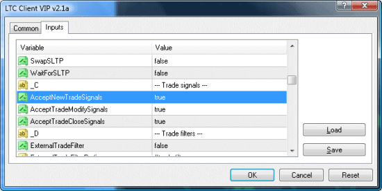 MT4 client ea trade signals options