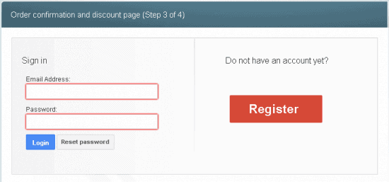 vpsforextrader purchase step 3 register account