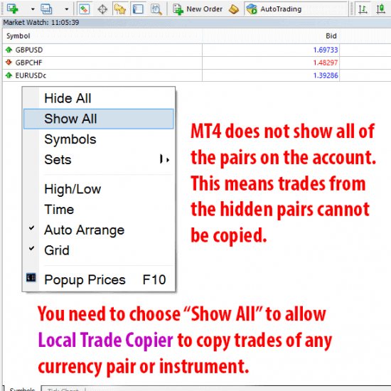 "Market watch window ""show all"" symbols option"