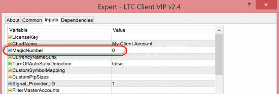 LTC Client EA now has MagicNumber=0 by default