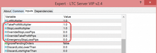More SL/TP options for LTC Server EA