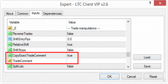 Trade Comments can now be copied or generated by the Local Trade Copier on MT4 trading platform.