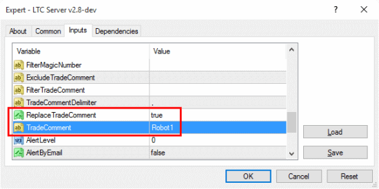 These parameters allows you to remove or set custom trade comments on master trades that are sent to client accounts.