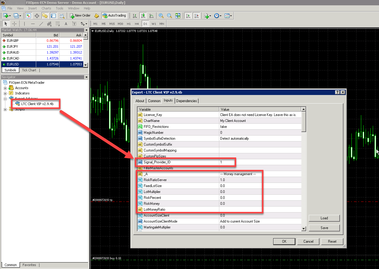 How to use signals in metatrader toolkit