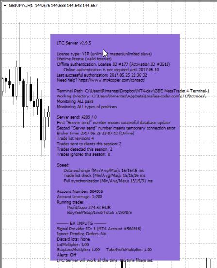 Trade Copier Server EA dashboard has a new color: Medium Purple