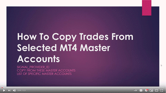 How To Copy Trades From Selected MetaTrader 4 Master Accounts